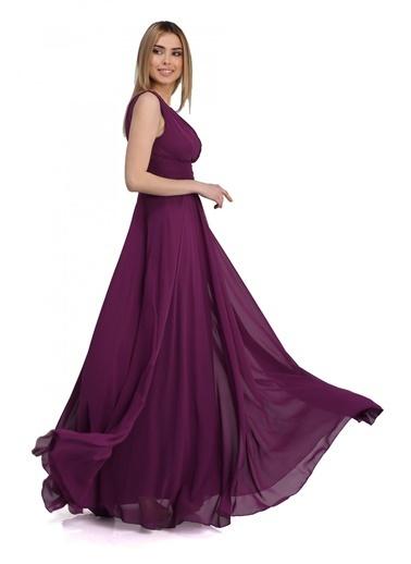 Pierre Cardin Uzun Abiye Elbise Mürdüm